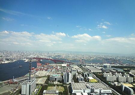 南港大橋方面の展望