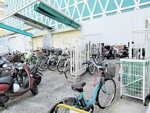 千里阪急の駐輪場