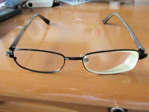 古い眼鏡を改造
