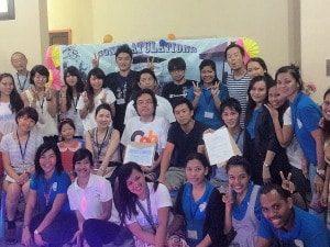 フィリピンの英会話学校での風景