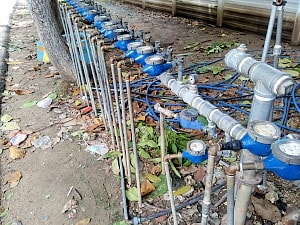 マクタン島の水道メーター