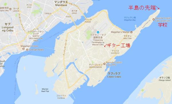 マクタン島 グーグルマップより