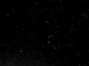 冬の星座オリオン座周辺