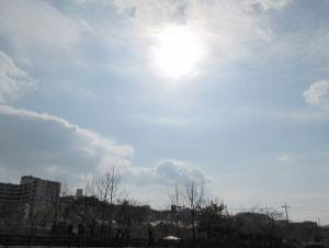 自宅で見た太陽