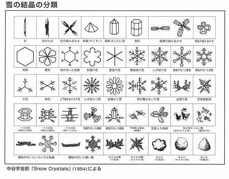 中谷宇吉郎先生の分類図