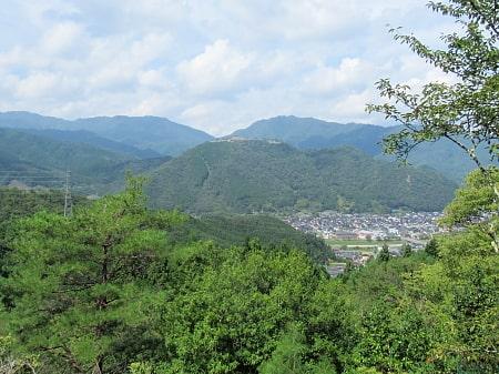 竹田城址の遠景