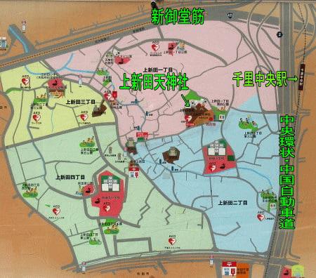 上新田の地図