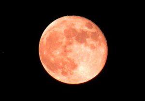 ストロベルームーンの翌日の月