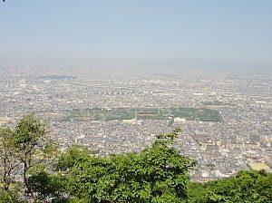 飯盛山から見た大阪平野