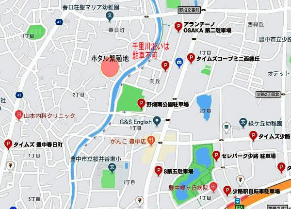 春日町付近の地図