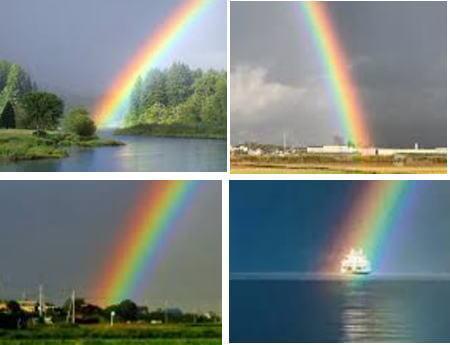 虹の位置は背景の手前 WEBの写真
