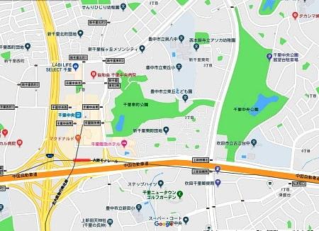 千里中央公園グーグルマップ